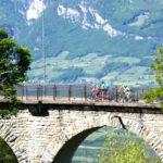 Brückenüberfahrt - Trailcamp Tramin/Südtirol