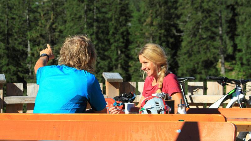 Einkehr - Fahrtechnik Garmisch Mountainbike Training