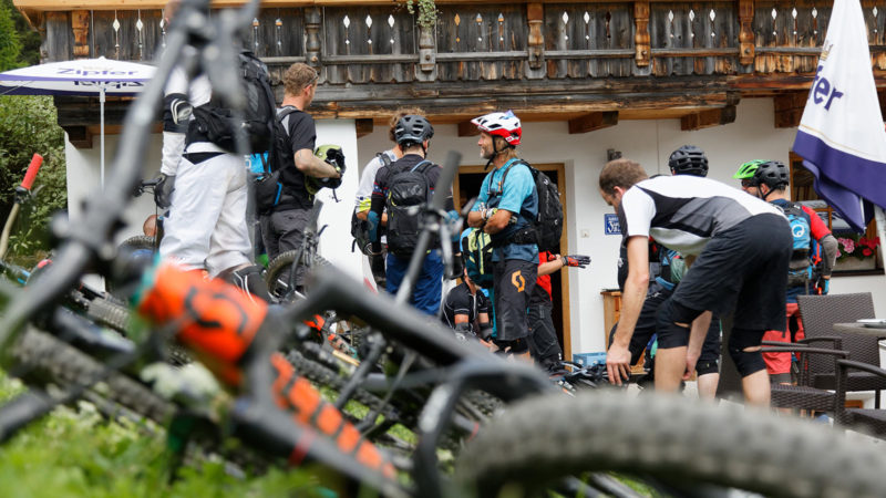Enduro Mountainbike Freeride Camp Reschenpass - Pause