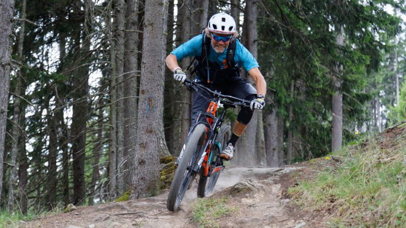 Enduro Mountainbike Freeride Camp Reschenpass - Wurzelpassage