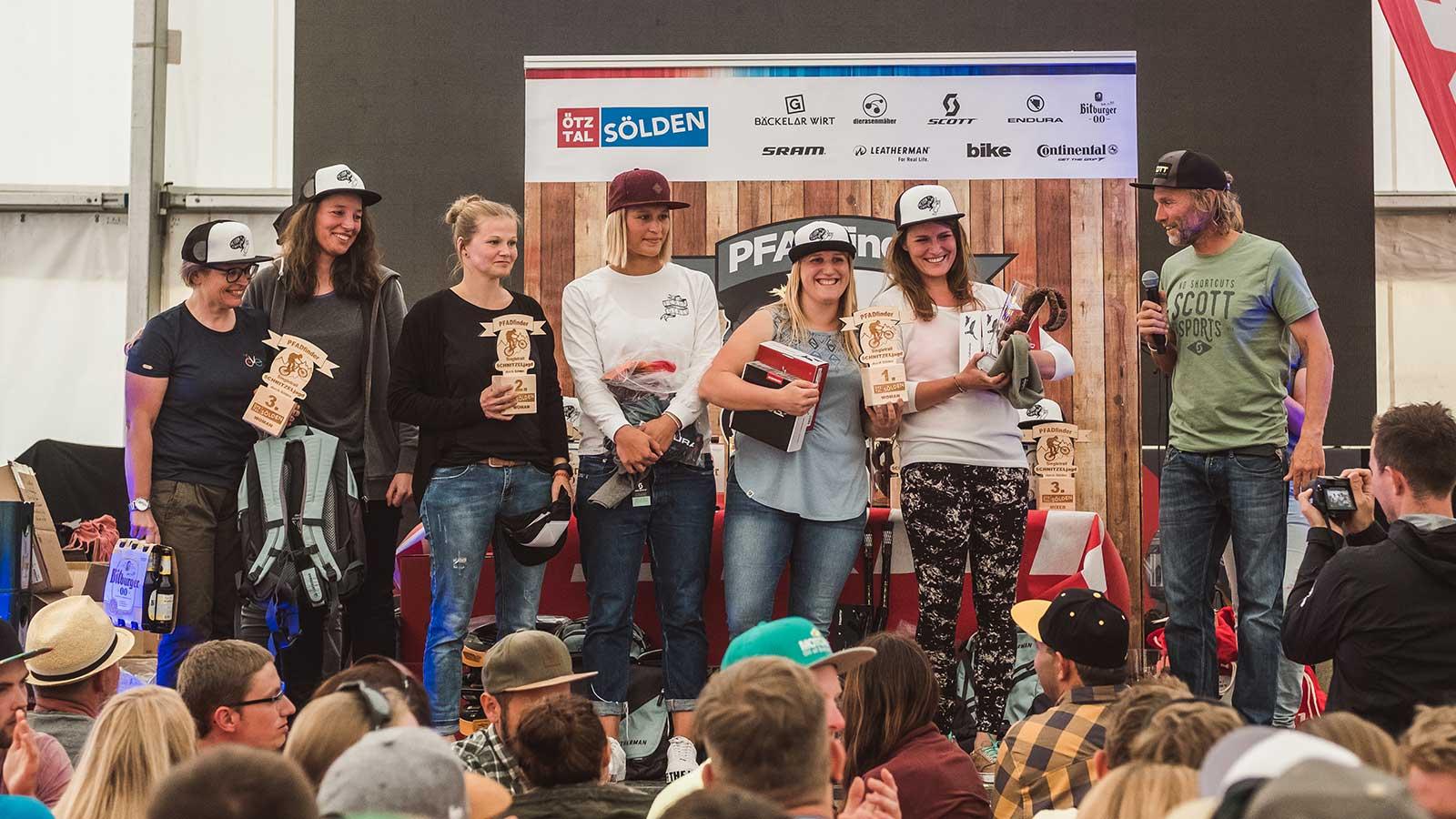 Event Schnitzeljagd 2018 - Siegerehrung Frauen