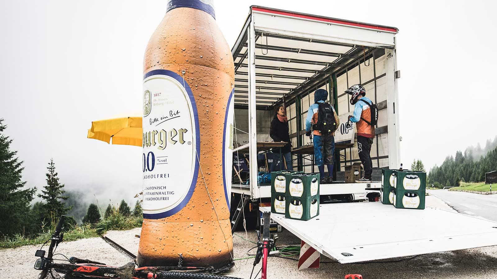 Die Rasenmäher Event Knödeljagd 2019 - Bitburger Truck
