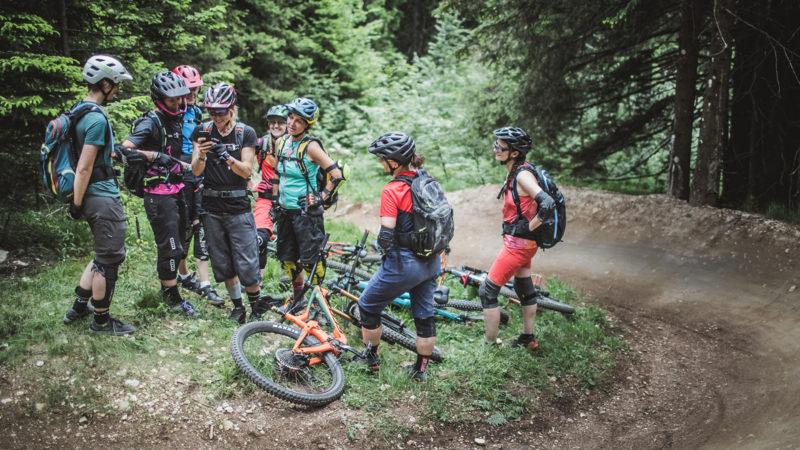 BIKE Womencamp Fahrtechnik - Die Rasenmäher Mountainbike Camp