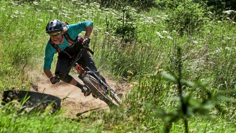 Fahrtechnik Bikepark Oberammergau Bayern, Bikeposition - Die Rasenmäher Mountainbike Camp