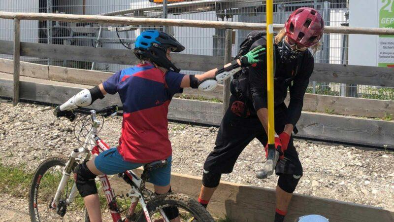 Rookie Camp Bikepark Oberammergau Bayern, Liftsupport mit Holger Meyer - Die Rasenmäher Mountainbike Camp