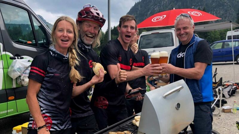 Rookie Camp Bikepark Oberammergau Bayern, Grill und BBQ - Die Rasenmäher Mountainbike Camp