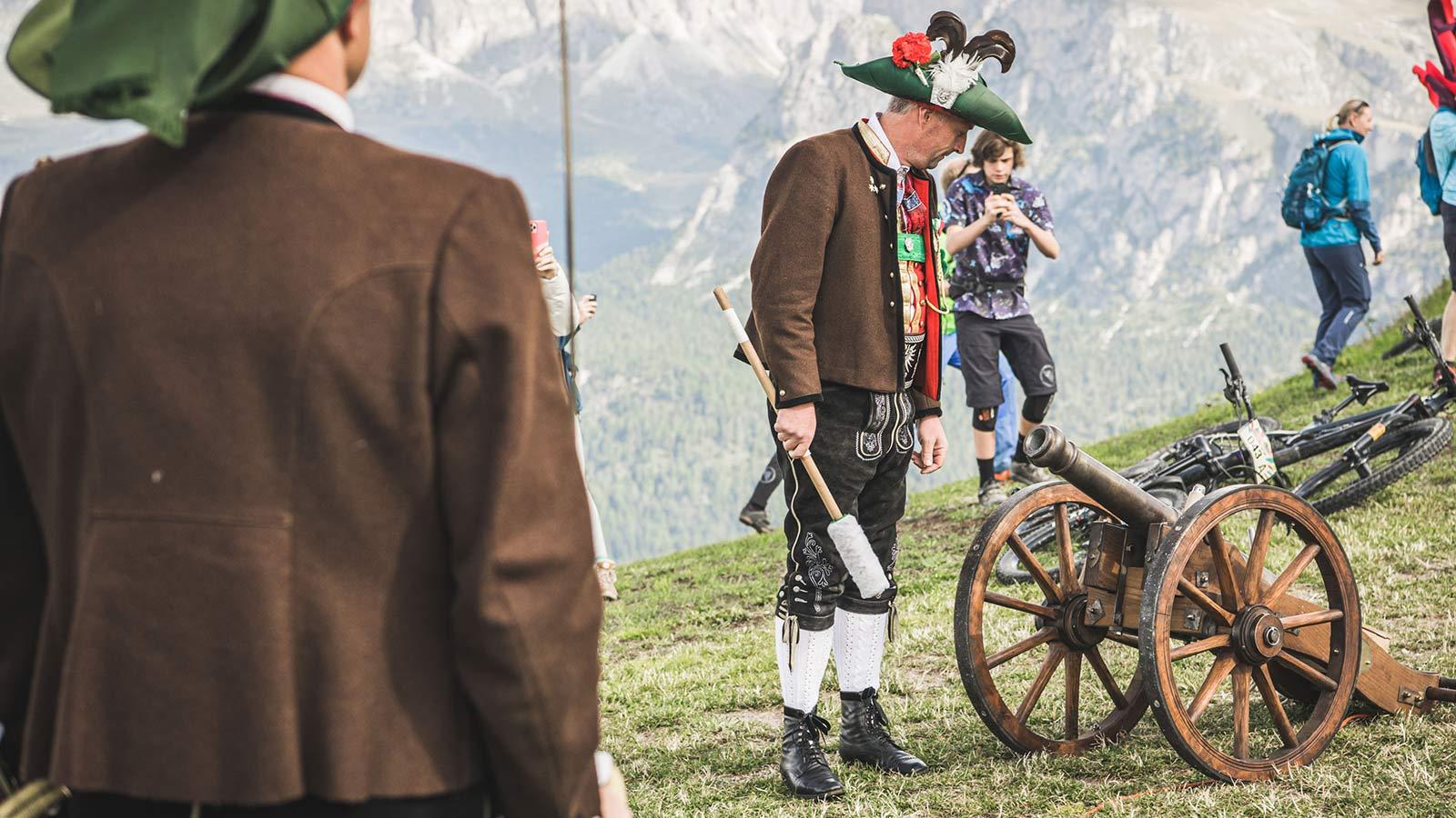 Event Knödeljagd 2021 Gröden Val Gardena - Kanonenschuß